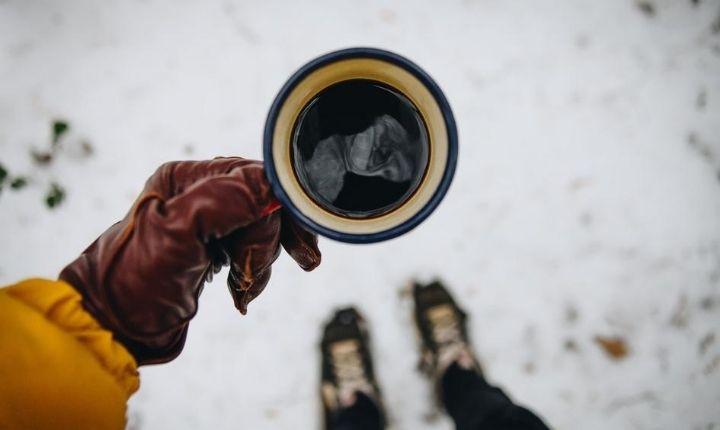 kaffe på vintern