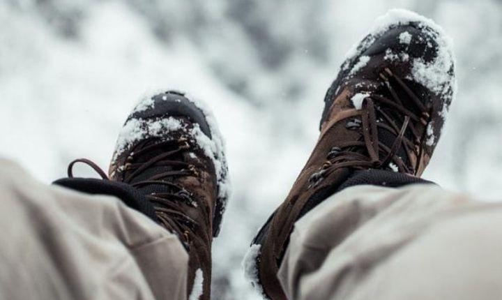 skor för vintervandring och tältning