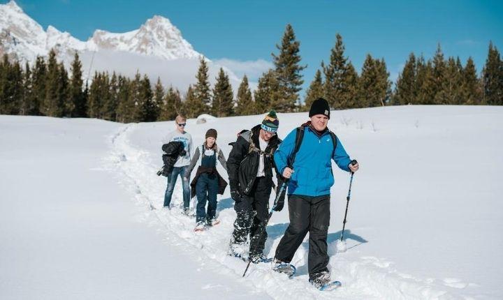 vandra med snöskor